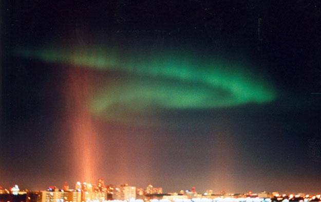Aurora sobre Winnipeg