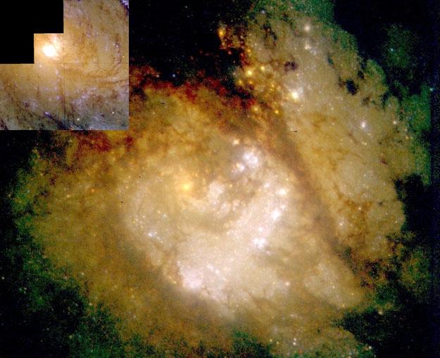 En el centro de la Galaxia Espiral M83