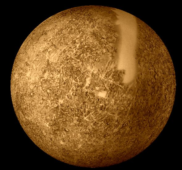 Mercury imaged by Mariner 10