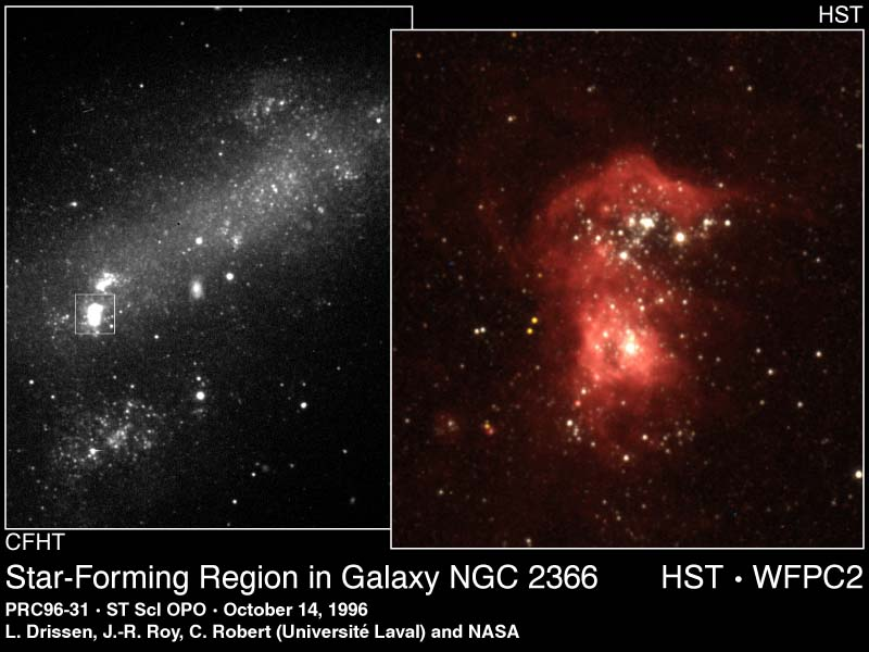 Estrellas brillantes en la Galaxia Oscura