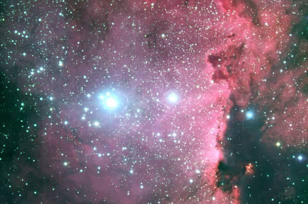 Horké hvězdy v jižní Mléčné dráze
