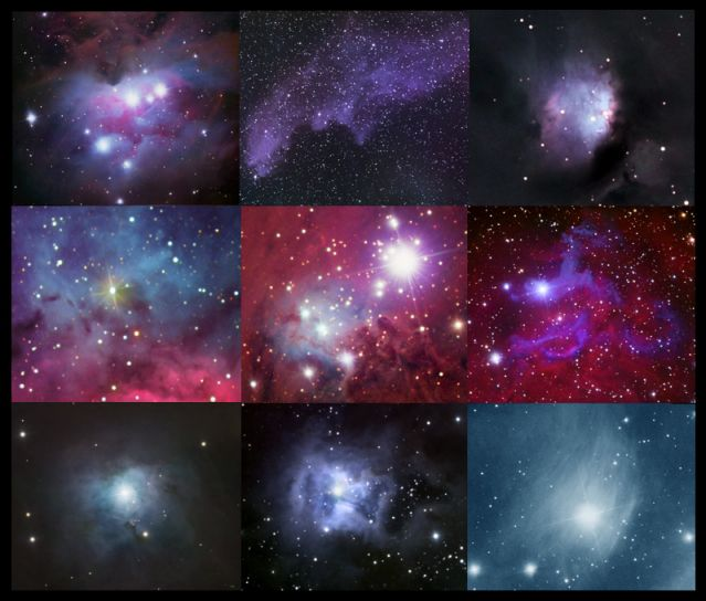 Reflexe světla hvězd