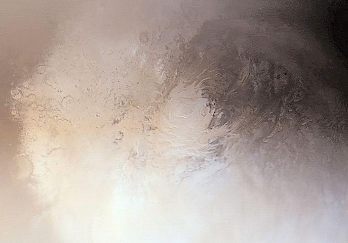 El polo sur de Marte
