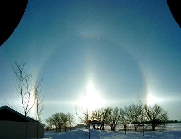 Halo Solar en el Solsticio de Invierno