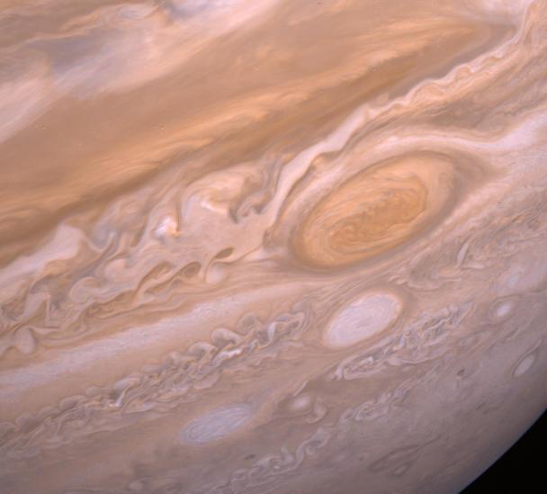 Giant Storm Systems Battle On Jupiter