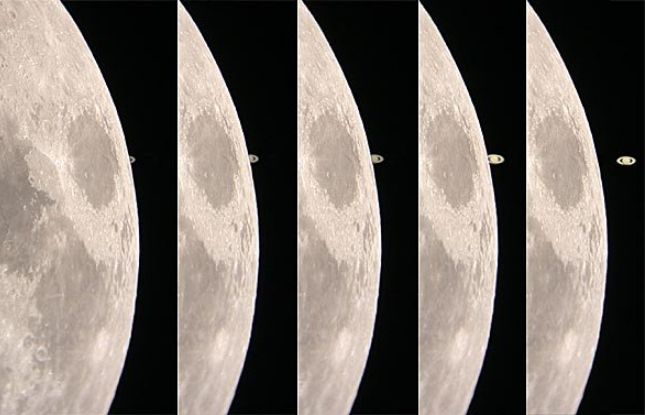 APOD: 2002 February 22 - Saturn at the Lunar Limb