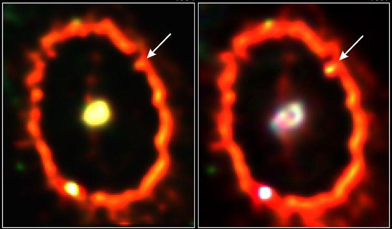 Golpeada por Supernova 1987A