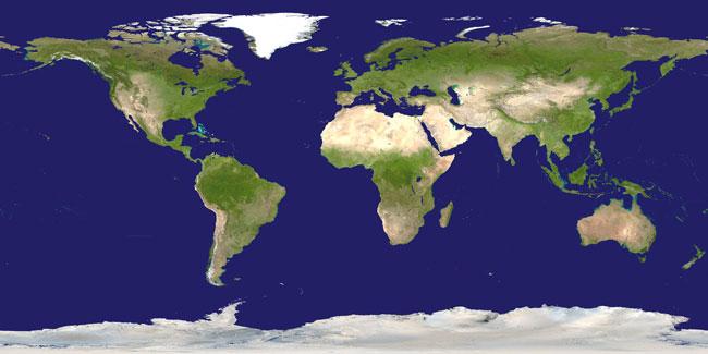 Země v pravých barvách