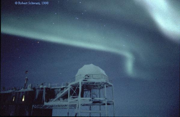 Aurora sobre la Antártida