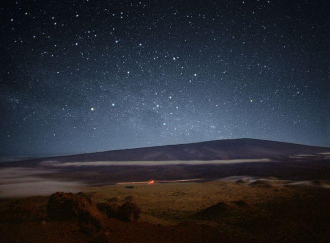 La Cruz del Sur en los cielos del Mauna Loa