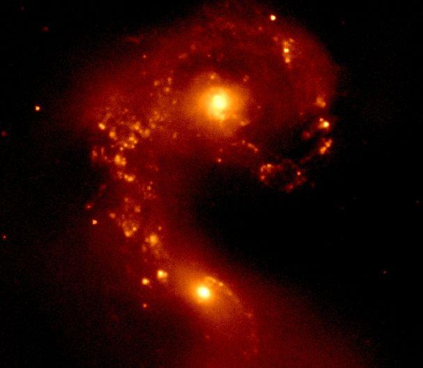 Galaxias Antena en Infrarrojo