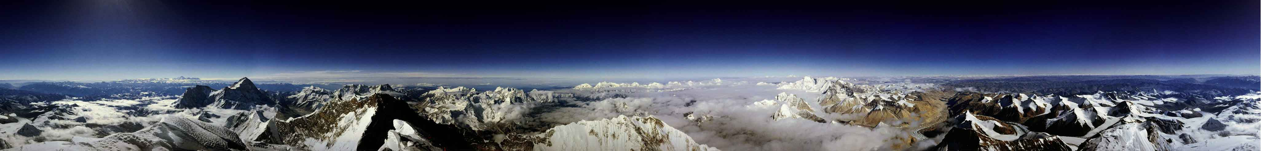 Vista a 360° dall'Everest.
