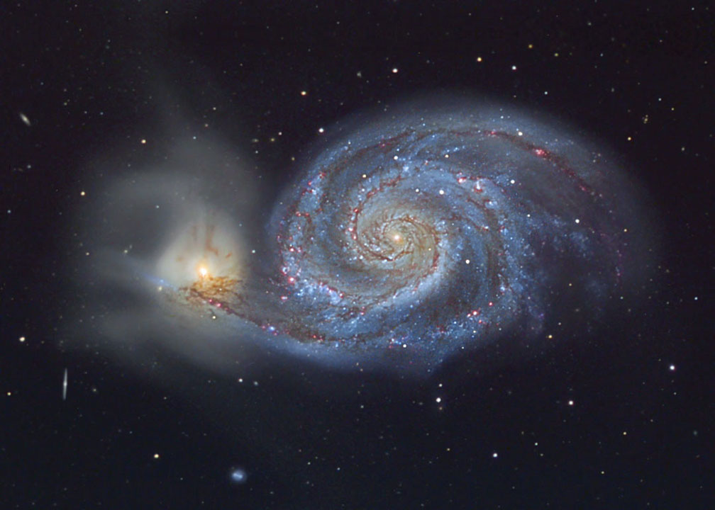 Astronomy Telescopes of Galaxy M51
