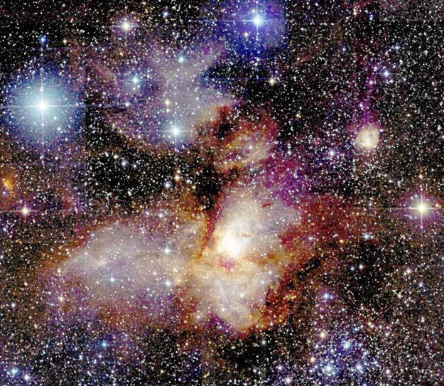 Región de formación estelar RCW38 del 2MASS