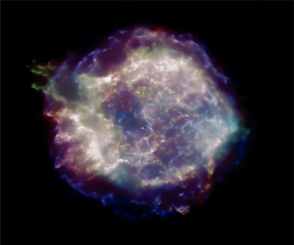 Remanente de supernova Cas A en X-Rays