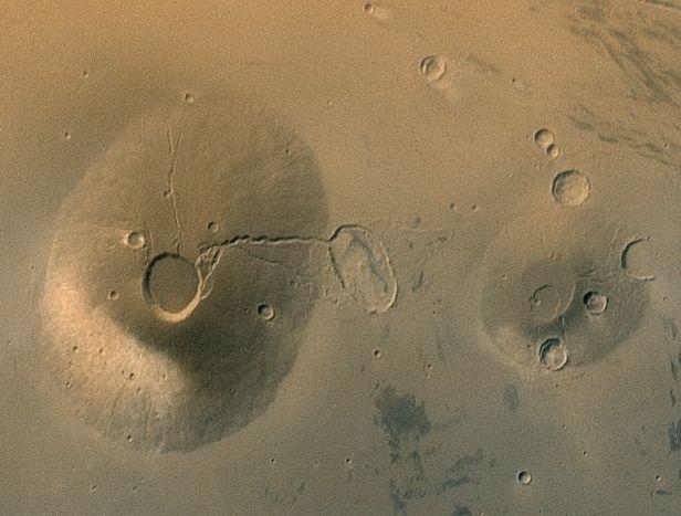 Starodávné sopky na Marsu