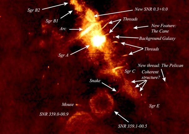 Rádiová záhada středu Galaxie
