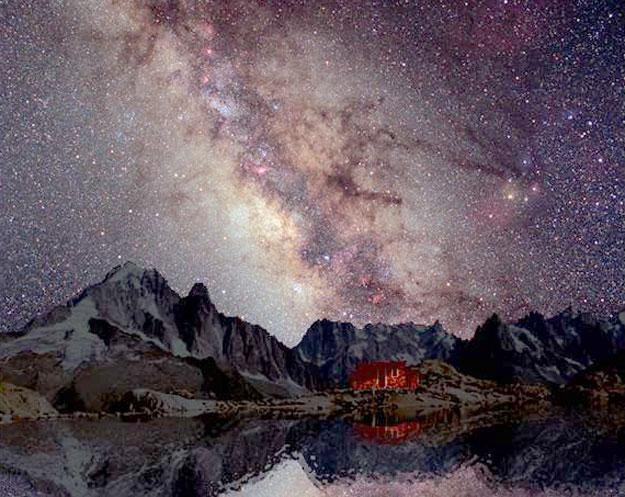 La Vía Láctea sobre el Mont Blanc
