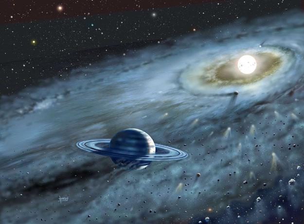 Prachový disk u Fomalhautu ukazuje na planety