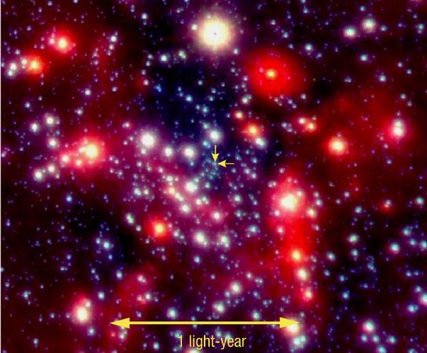 En el centro de la Vía Láctea