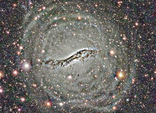 Las capas exteriores de Centaurus A