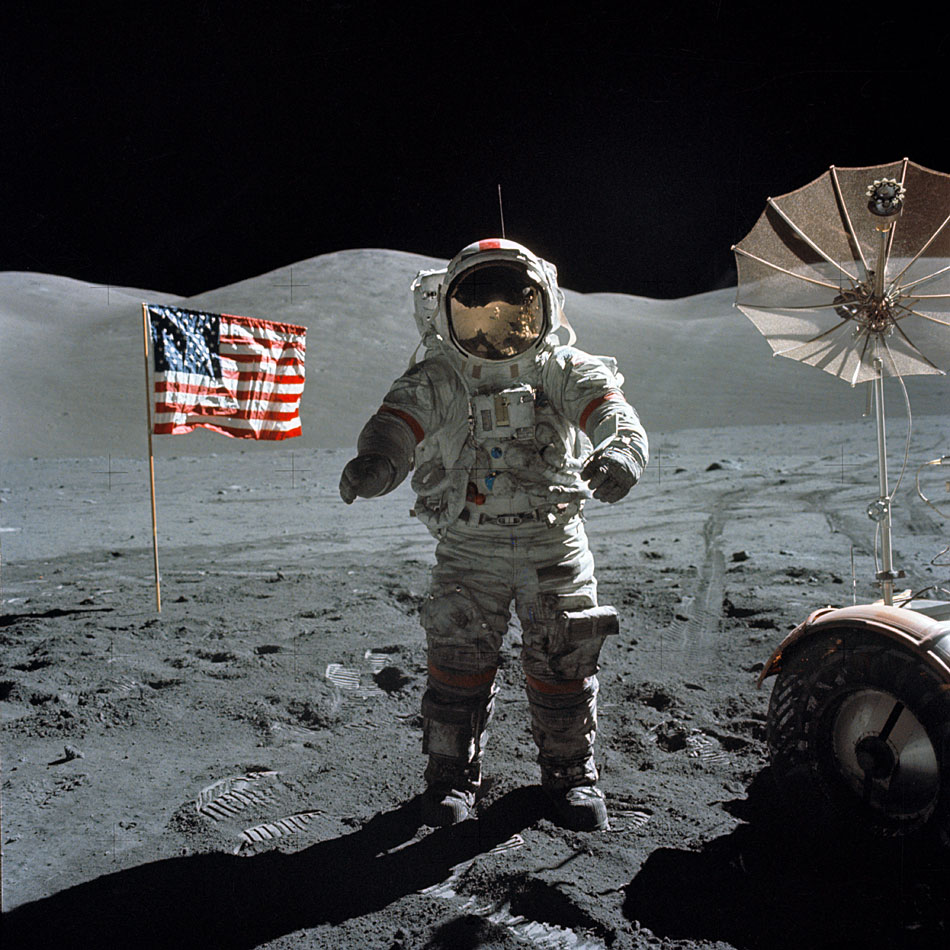APOD: 2002 December 12 - Apollo 17: Last on the Moon