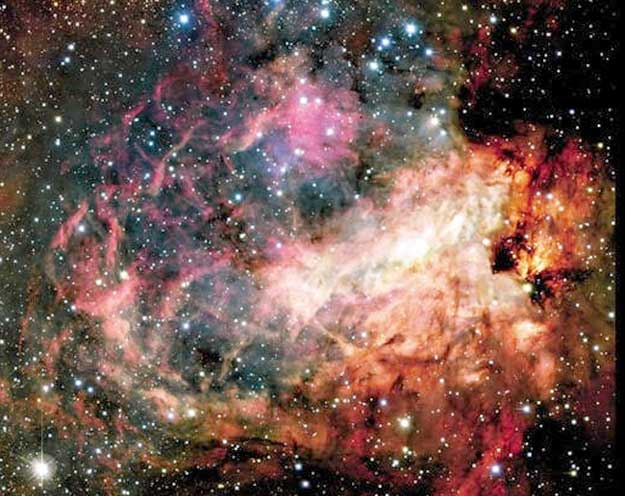 いて座の散光星雲M17(オメガ星雲)<