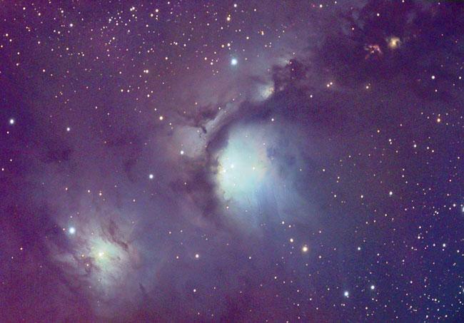 Las nubes de polvo reflectantes de Orión