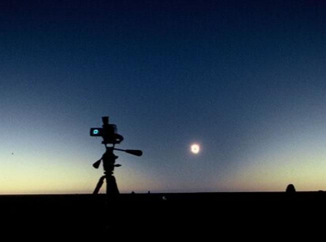Cono de sombra en un eclipse total de sol