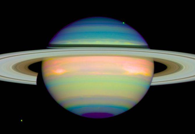 Saturno infrarojo