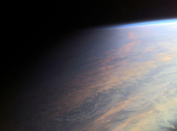 La Tierra al atardecer