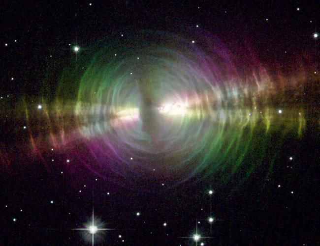 La nebulosa del huevo en luz polarizada