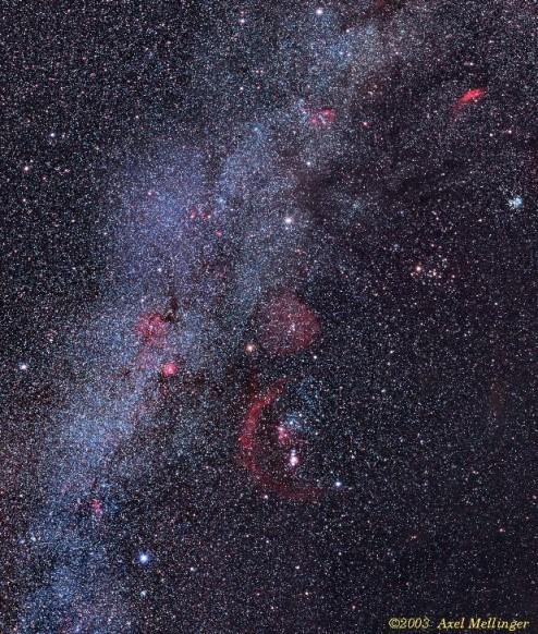 Cúmulos y nebulosas del hexágono
