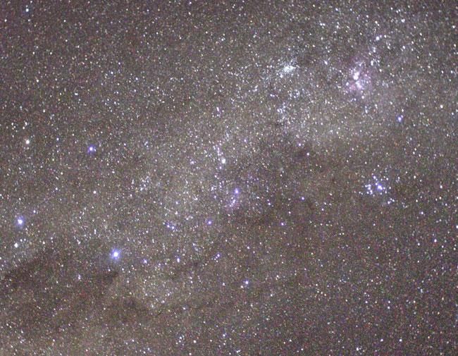 El cielo del sur desde la Estación Espacial Internacional