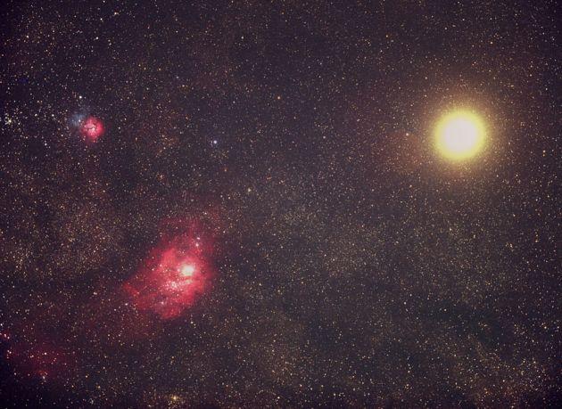 Dos Objetos Messier y Marte