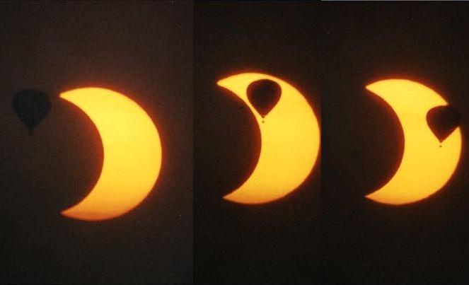 El Sol, la Luna y un globo