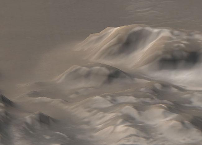 Montañas Heladas de Marte