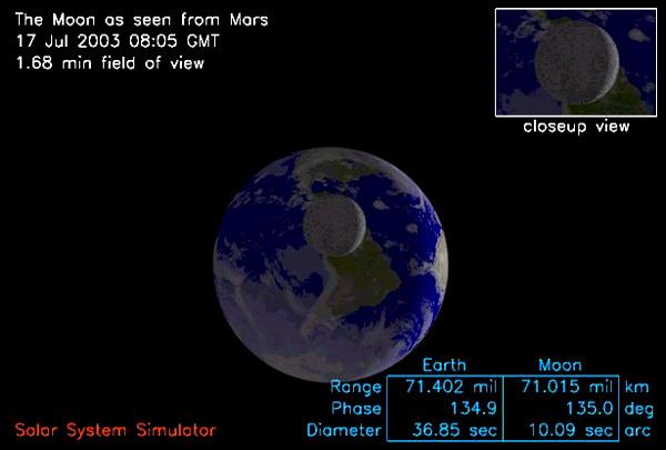 Vista simulada de Marte
