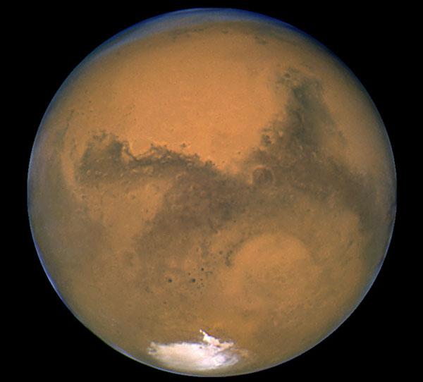 Marte grande desde el Hubble
