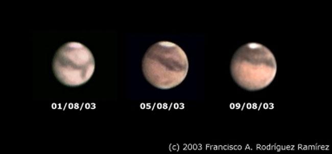 Marte a través de un pequeño telescopio