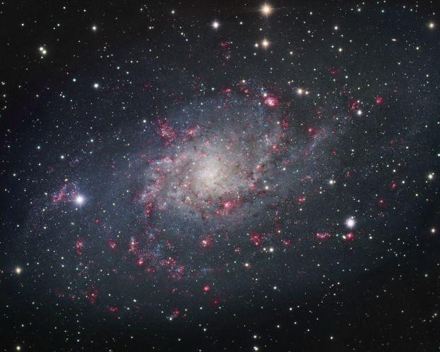 M33: Spirální galaxie v Trojúhelníku