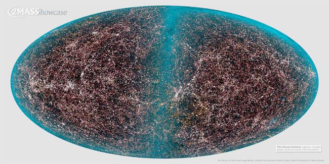 El cielo de Galaxias del 2MASS
