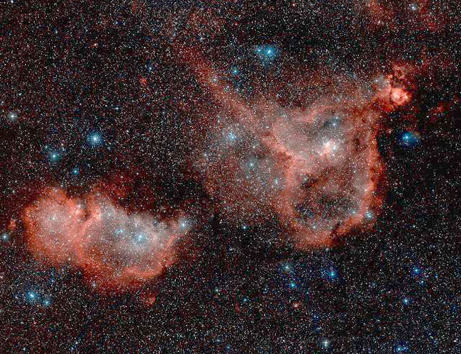 Las nebulosas corazón y alma