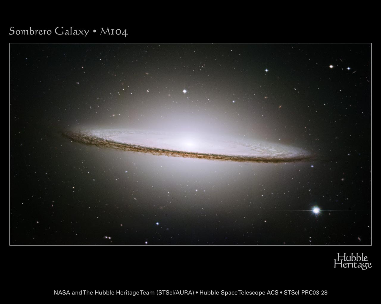 apod: 2003 october 8 - the sombrero galaxy from hst