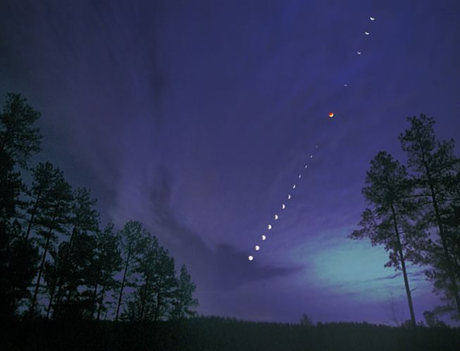 Eclipse de Luna desde Connelly's Springs