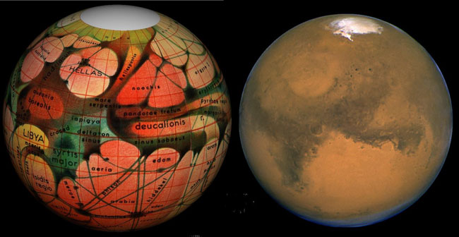Mars Then and Now