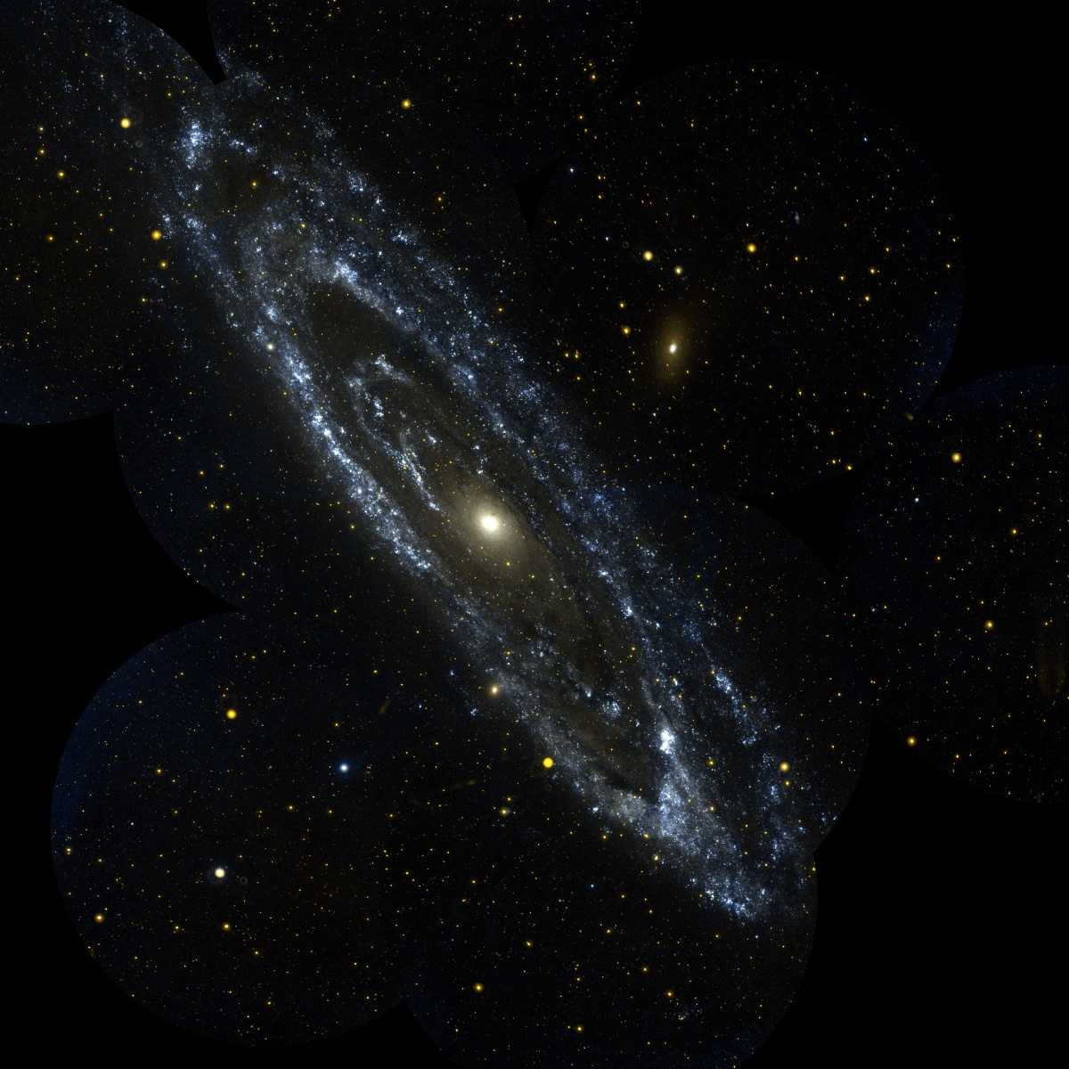 APOD: 2003 December 22 - The Andromeda Galaxy from GALEX