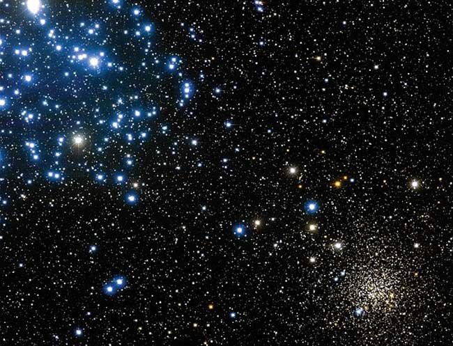 APOD: 2003 December 15 - Open Star Clusters M35 and NGC 2158