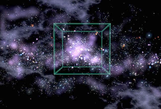 Serie inesperada de galaxias en el universo primigenio