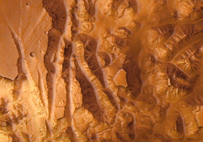 Valles Marineris desde el <i>Expreso a Marte</i>